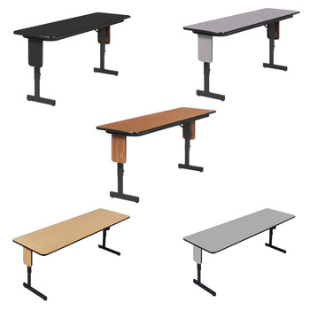 Correll Adjustable Height Panel Leg High-Pressure Laminate Seminar Training Folding Table