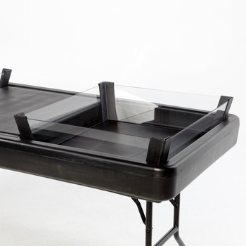 2/3 Depth Extension Kit - Black For Little Chiller Tables