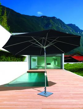 Galtech 8x11-ft. Oval Top Aluminum Umbrella With Autotilt Crank Lift, Model 779 (GA779)