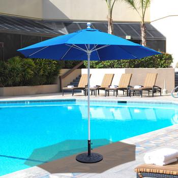 Galtech 9-ft. Aluminum Umbrella With Manual Lift, Model 735 (GA735)