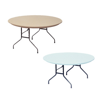 "R-Series By Correll 60"" (5 ft) Round R-Series Plastic Folding Table"