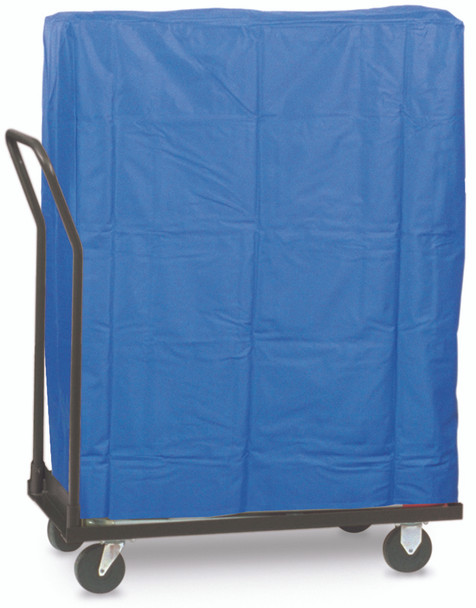 Blue Polyester Vinyl Plastic Folding Chair Cover - 50 Chair Capacity USA Made