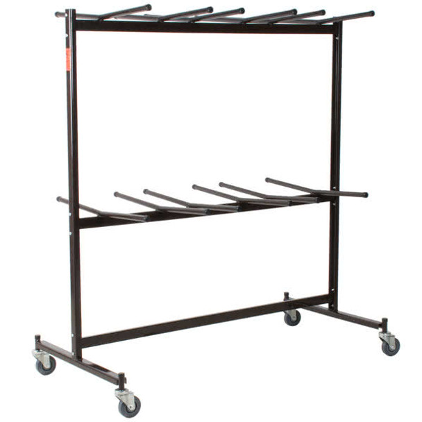 84-Capacity Hanging Folding Chair Storage Cart By National Public Seating