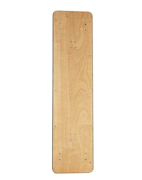 "European Birch 30""W x 72""L (6FT) Rectangular Wood Banquet Folding Table With Metal Edge"