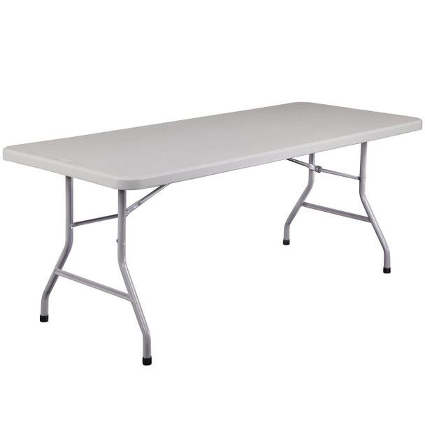 "Body Builder 30""W x 72""L  (6 ft) Plastic Folding Table By National Public Seating, Model BT-3072"