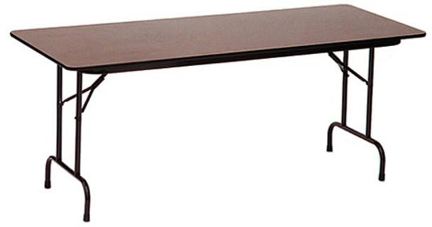 Correll Melamine Laminate Folding Table-USA Made 30x96