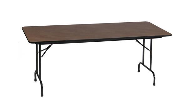 Correll Melamine Laminate Folding Table-USA Made-Walnut
