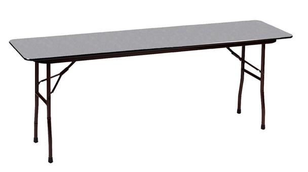 Correll Melamine Laminate Folding Table-USA Made-Gray Granite