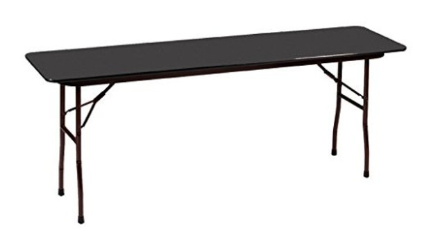 Correll Melamine Laminate Folding Table-USA Made-Black Granite