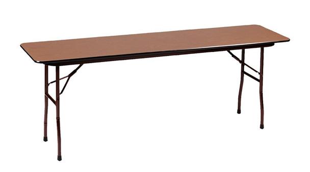 Correll Melamine Laminate Folding Table-USA Made-Medium Oak