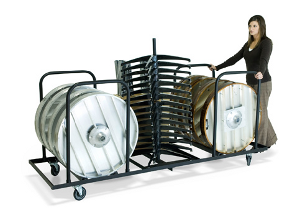 Aluminum Knock Down Pedestal Cocktail Table GHD Storage Carts