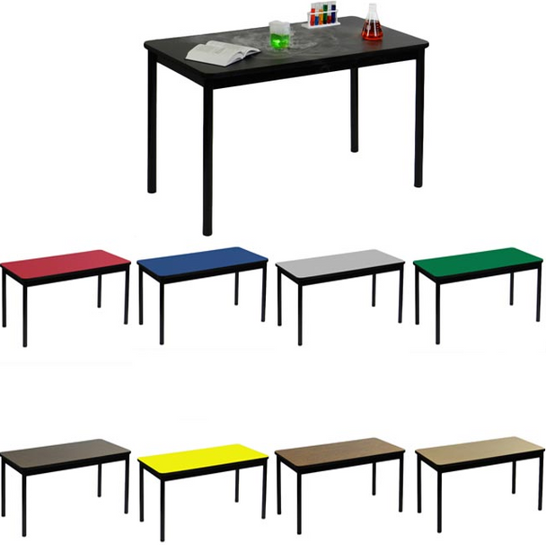 """Correll Lab Tables with High Pressure Laminate Tops 36"""" Height-USA Made (CL-LT)"""