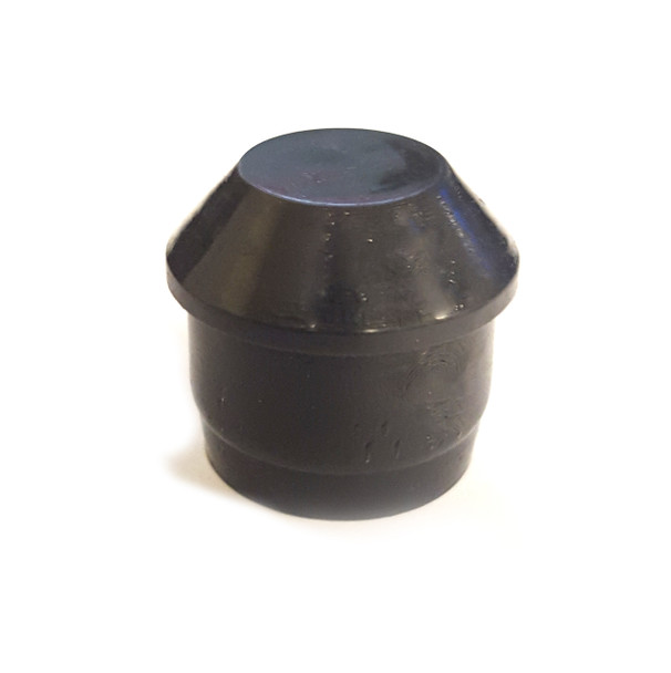 "Individual Pieces - Plastic Stability Plug Inserts for Metal and Padded Folding Chairs, Fits 7/8"" OD, 3/4"" ID Tube (Black)"