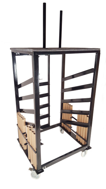 Transport and Storage Cart for High Top Cocktail Tables - 10 Table Capacity (PR-9300)