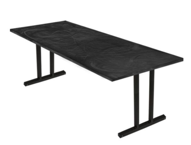 Swirl Banquet Aluminum Folding Table-Graphite