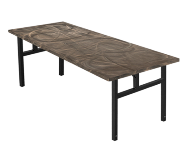 Swirl Banquet Aluminum Folding Table-Tucson