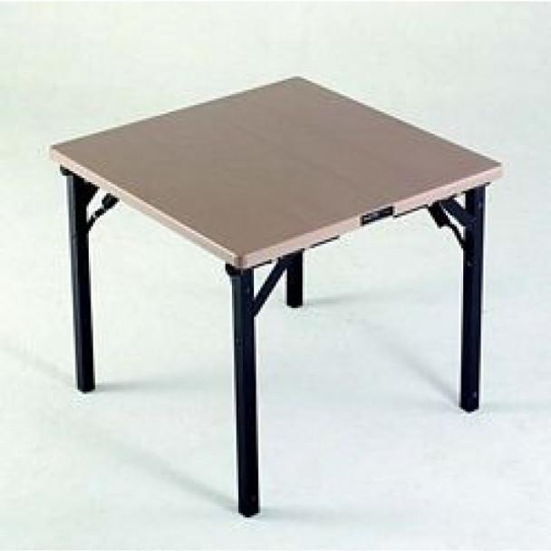 Alulite Aluminum Card Table with Individual Folding Legs-Dessert Tan