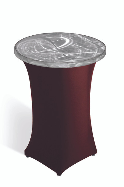 Round Pedestal Cocktail Spandex Skirting for Aluminum Tables (SAL-SPANDEX-PED)