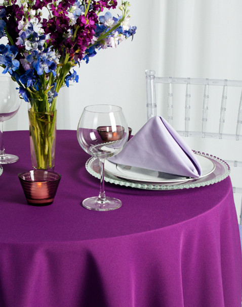 Solid Polyester Tablecloth Linen