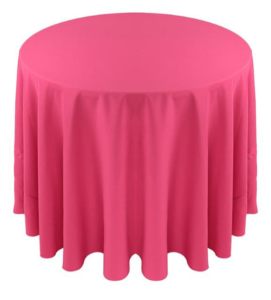 Solid Polyester Tablecloth Linen-Bubblegum