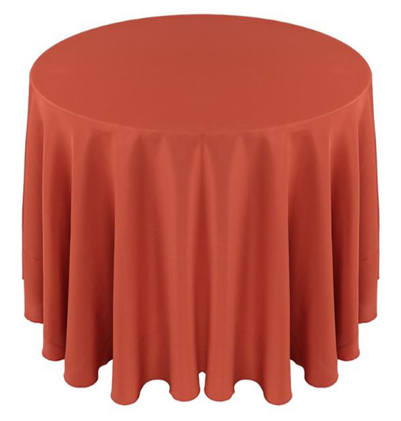 Solid Polyester Tablecloth Linen-Burnt Orange