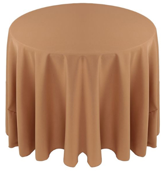 Solid Polyester Tablecloth Linen-Cafe