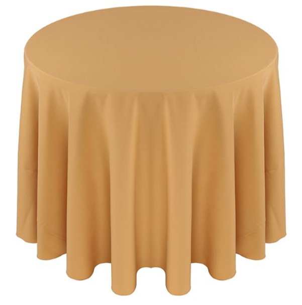 Solid Polyester Tablecloth Linen-Camel