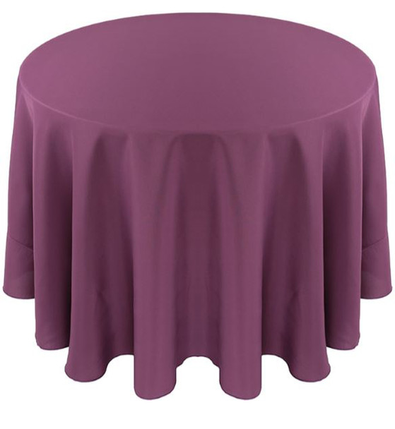Solid Polyester Tablecloth Linen-Claret