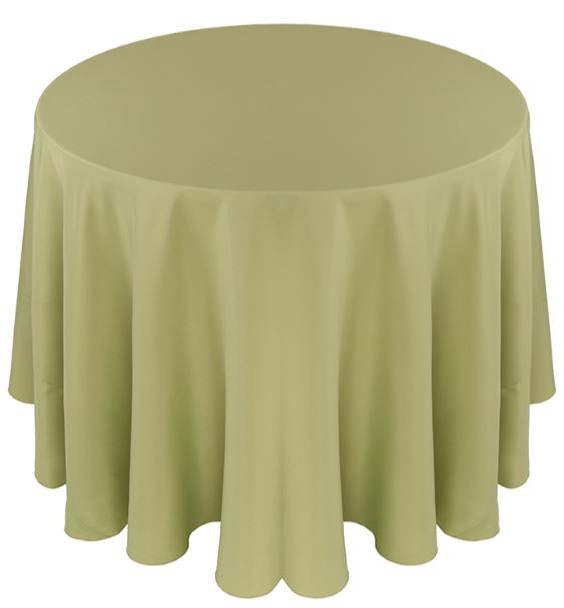 Solid Polyester Tablecloth Linen-Clover
