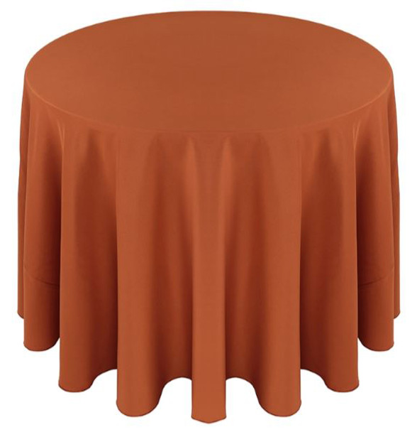 Solid Polyester Tablecloth Linen-Copper