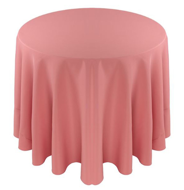 Solid Polyester Tablecloth Linen-Dusty Rose