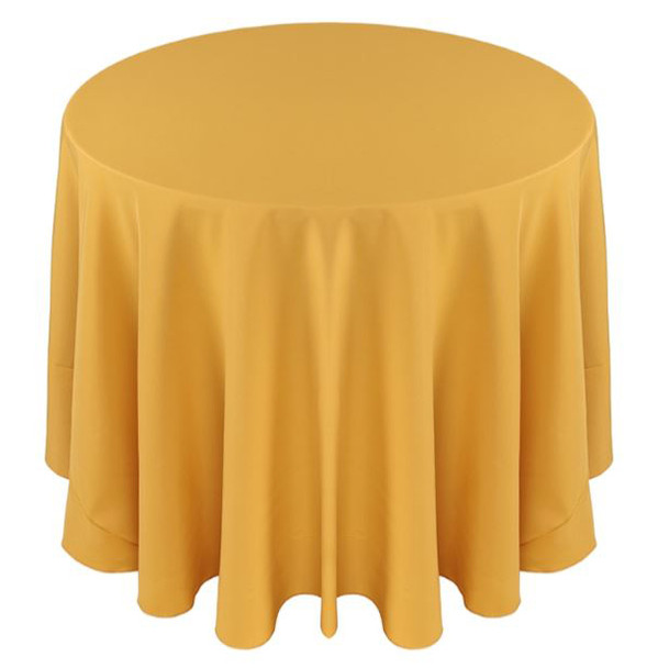 Solid Polyester Tablecloth Linen-Gold