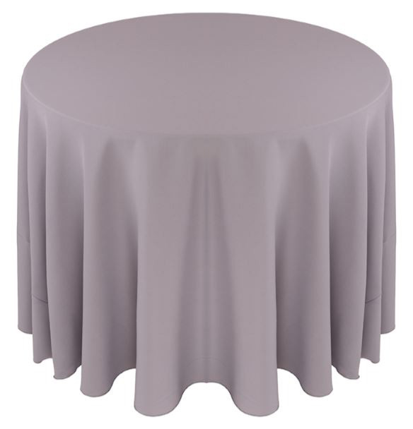 Solid Polyester Tablecloth Linen-Grey