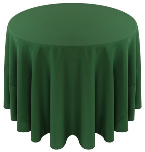 Solid Polyester Tablecloth Linen-Hunter