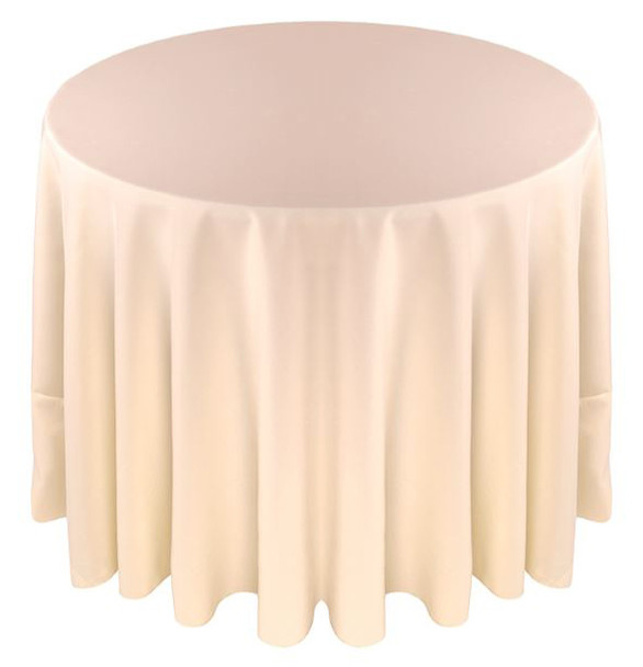 Solid Polyester Tablecloth Linen-Ivory