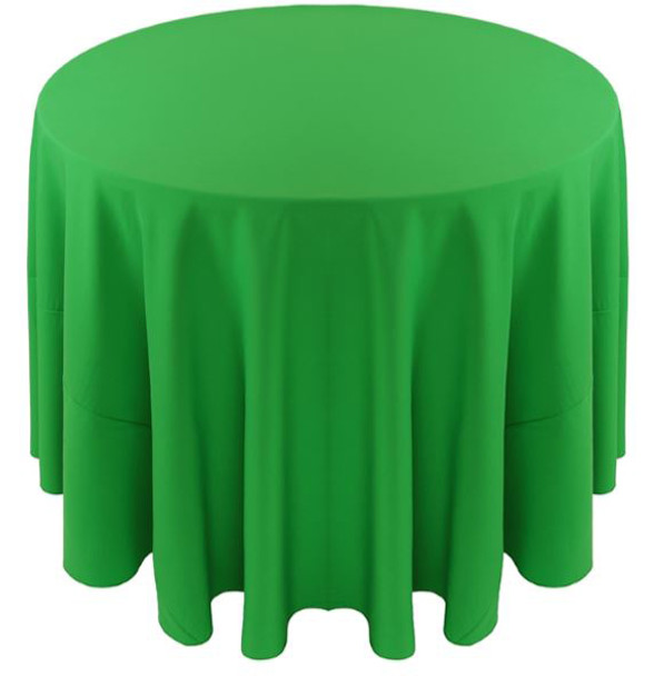 Solid Polyester Tablecloth Linen-Kelly