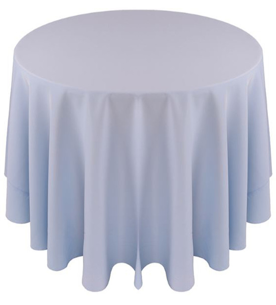 Solid Polyester Tablecloth Linen-Light Blue