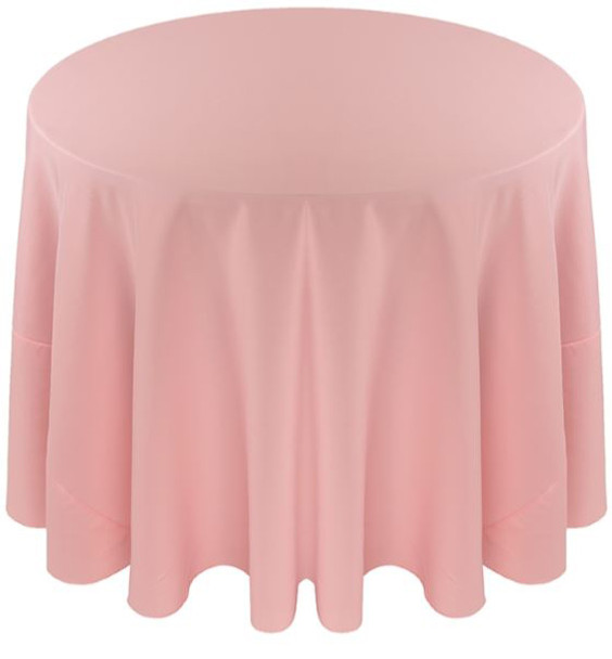 Solid Polyester Tablecloth Linen-Light Pink