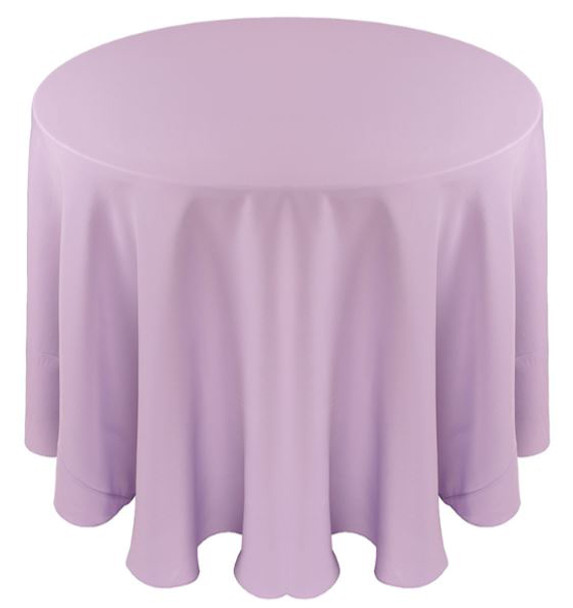 Solid Polyester Tablecloth Linen-Lilac