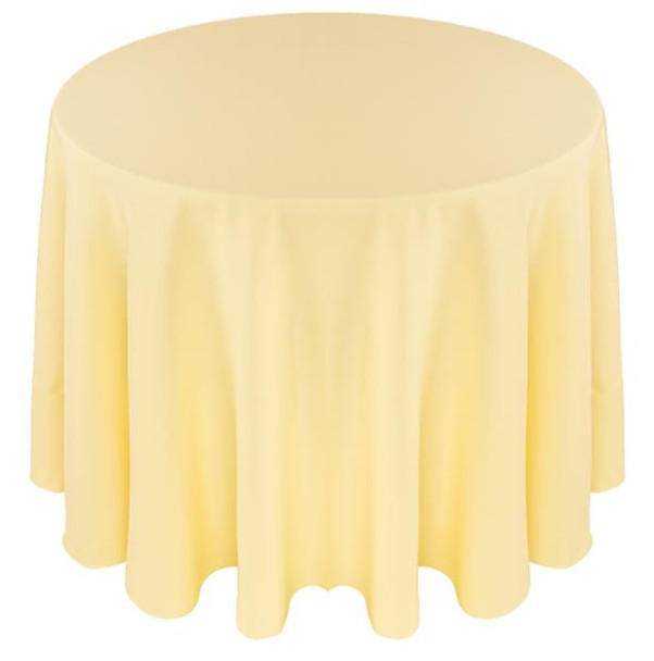 Solid Polyester Tablecloth Linen-Maize