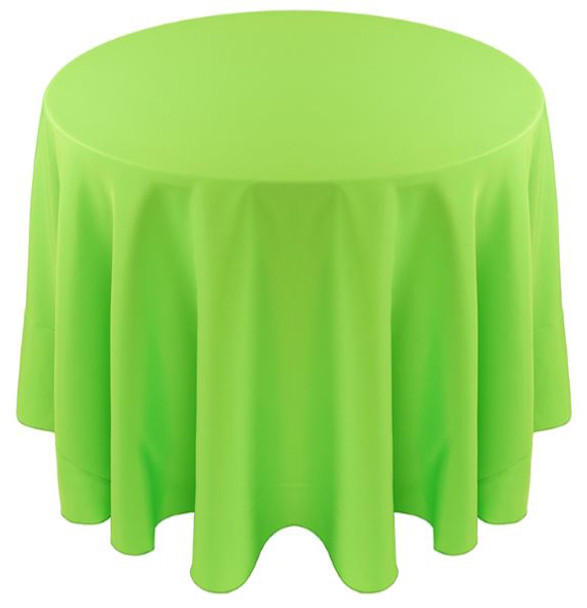 Solid Polyester Tablecloth Linen-Neon Green
