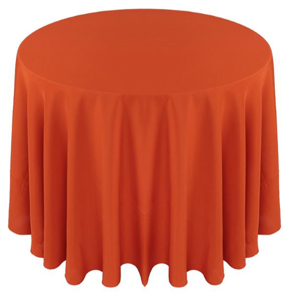 Solid Polyester Tablecloth Linen-Orange