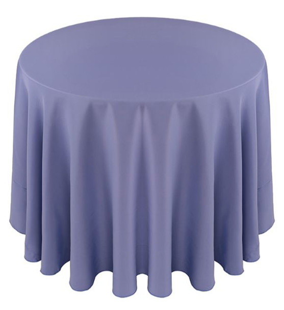 Solid Polyester Tablecloth Linen-Periwinkle