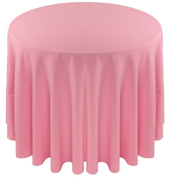 Solid Polyester Tablecloth Linen-Pink