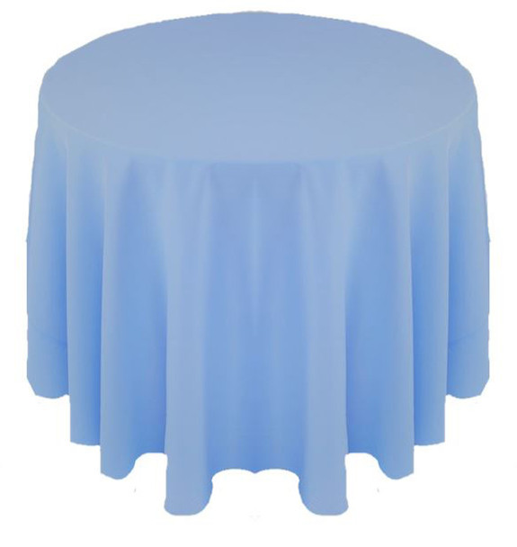 Solid Polyester Tablecloth Linen-Powder Blue