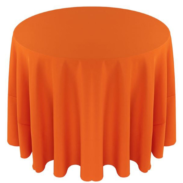 Solid Polyester Tablecloth Linen-Pumpkin