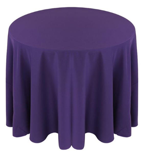Solid Polyester Tablecloth Linen-Purple