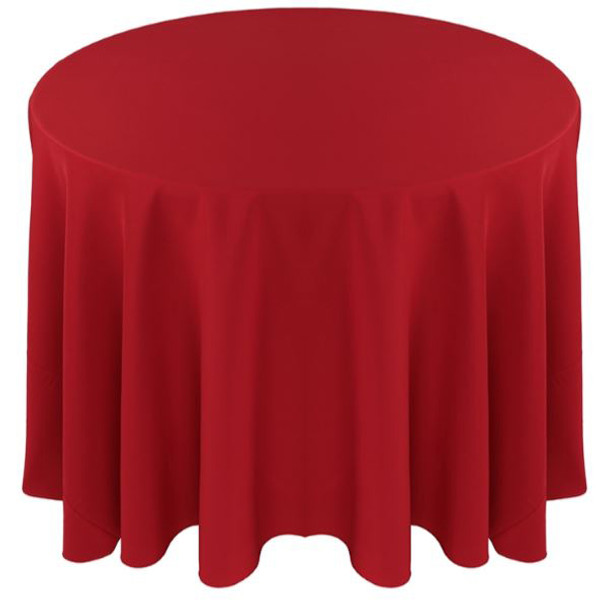 Solid Polyester Tablecloth Linen-Red
