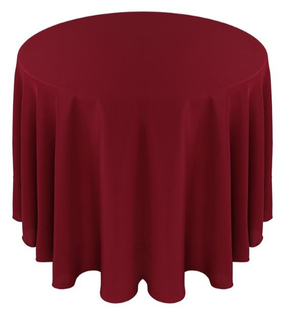 Solid Polyester Tablecloth Linen-Ruby
