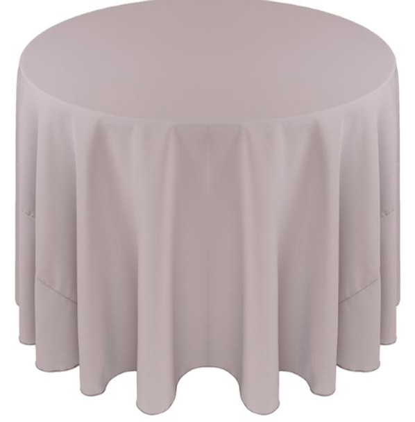 Solid Polyester Tablecloth Linen-Silver